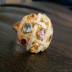 NWOT Judith Ripka Multi-Gem Ring